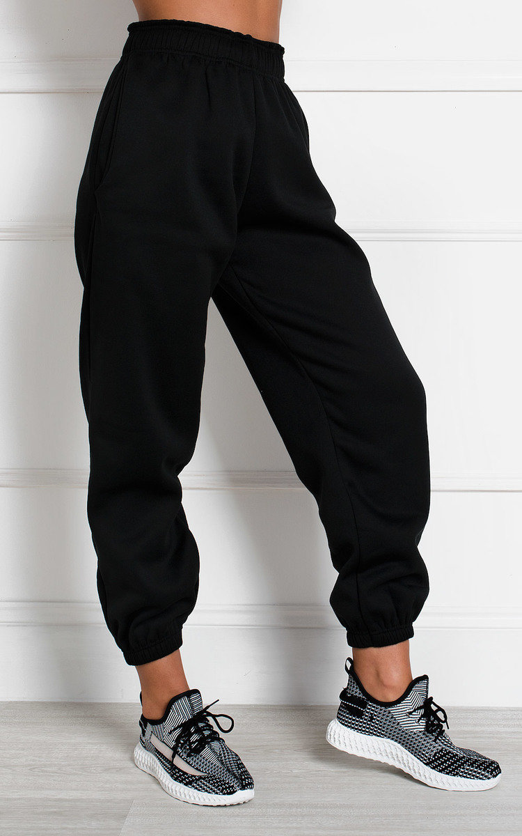 Esme High Waisted Joggers in Black