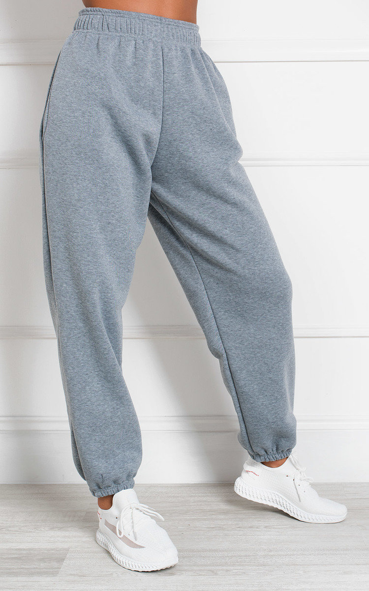 Esme High Waisted Joggers in Grey