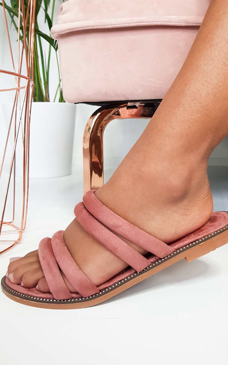 IKRUSH Womens Harper Strappy Faux Suede Sandals