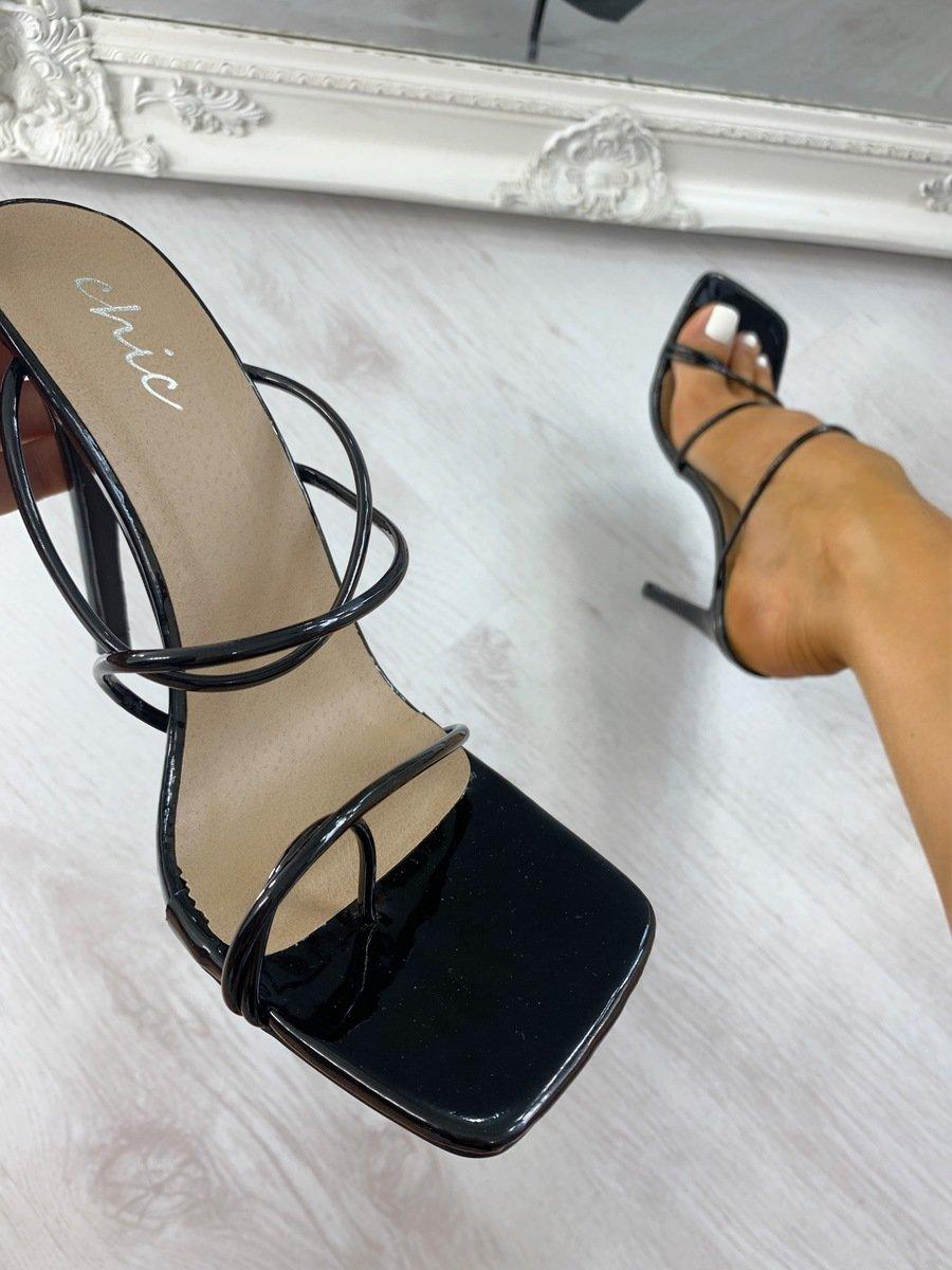 Hattie Strappy High Heels in Black