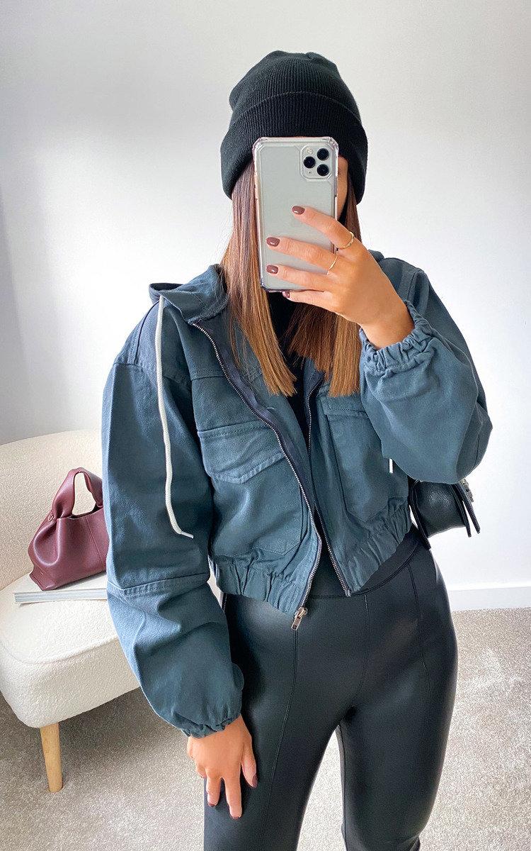Khloe Oversized Jacket in Grey