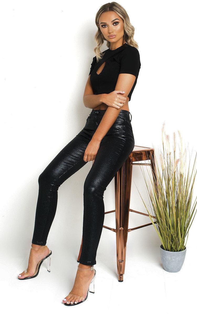 Kim Crop Top in Black