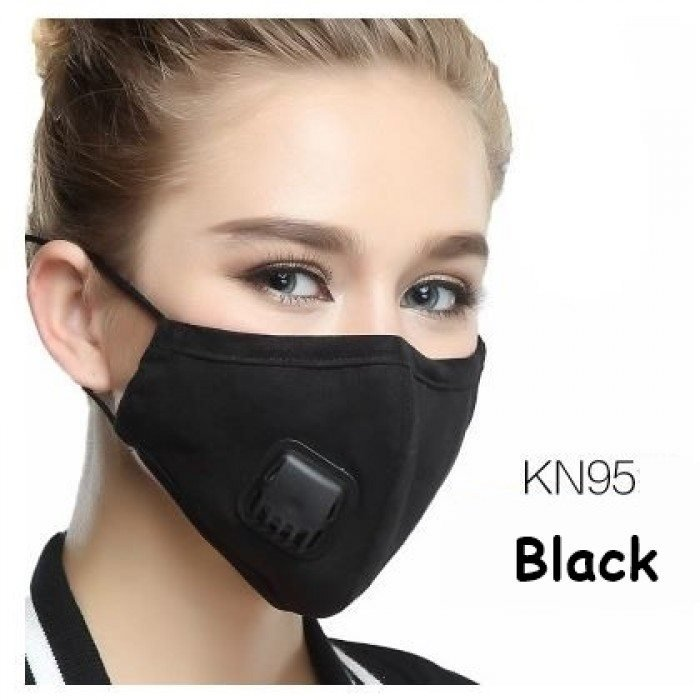 KN95 Personal Protection Face Mask Respirator in Black