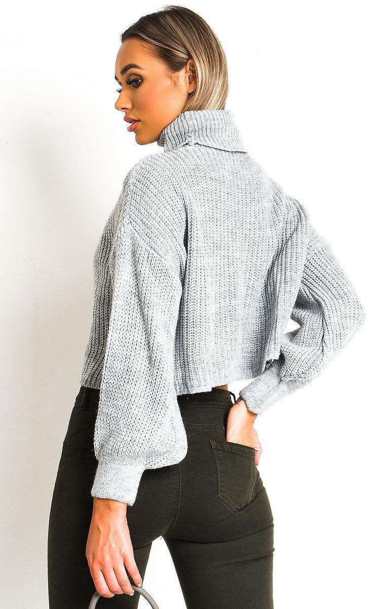IKRUSH Womens Lana Chunky Knit High Neck Cropped Jumper