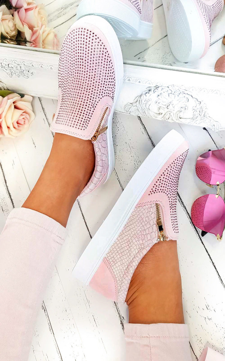 Leah Slip On Embellished Trainers in