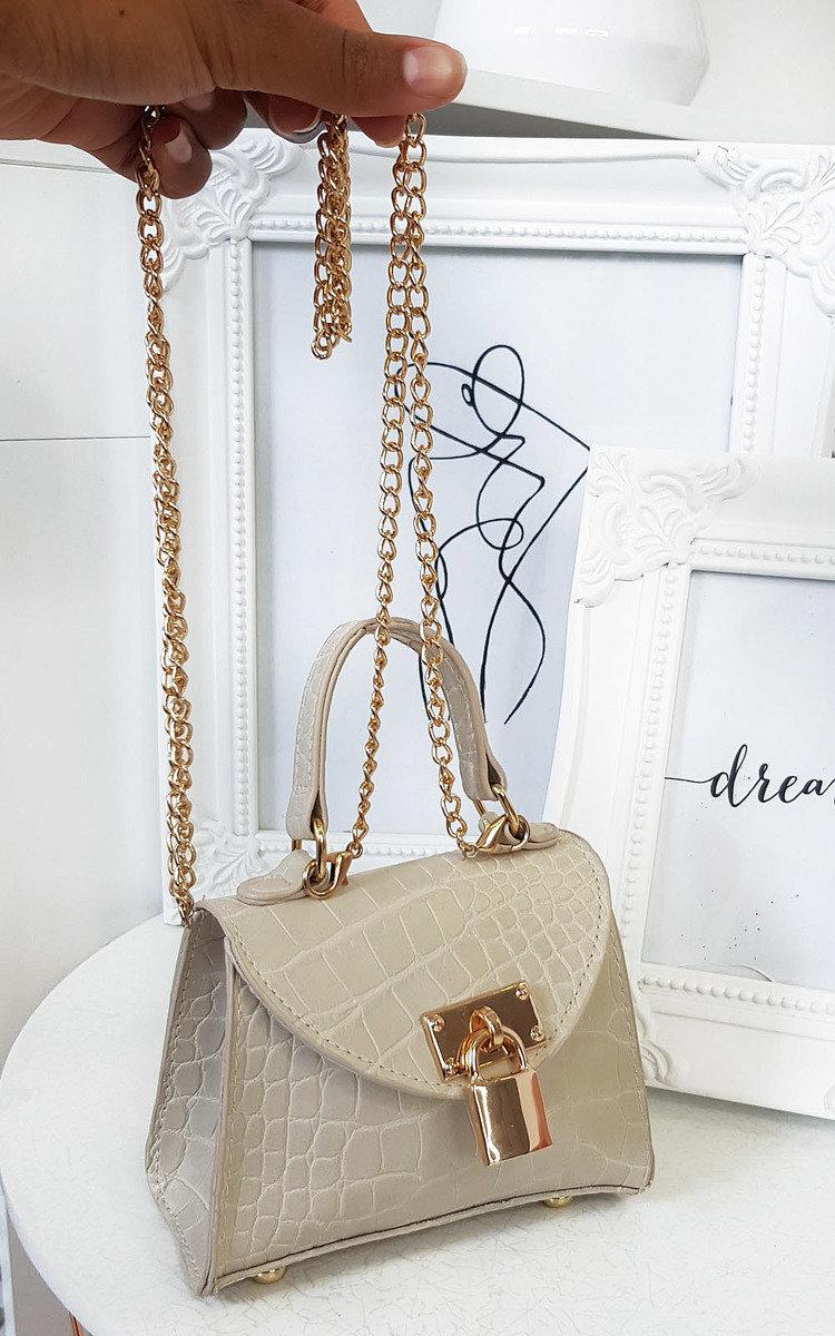 Lola Micro Mini Bag in Nude