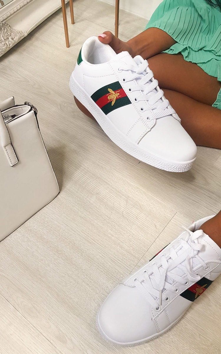Lyla Striped Bee Design Trainers in