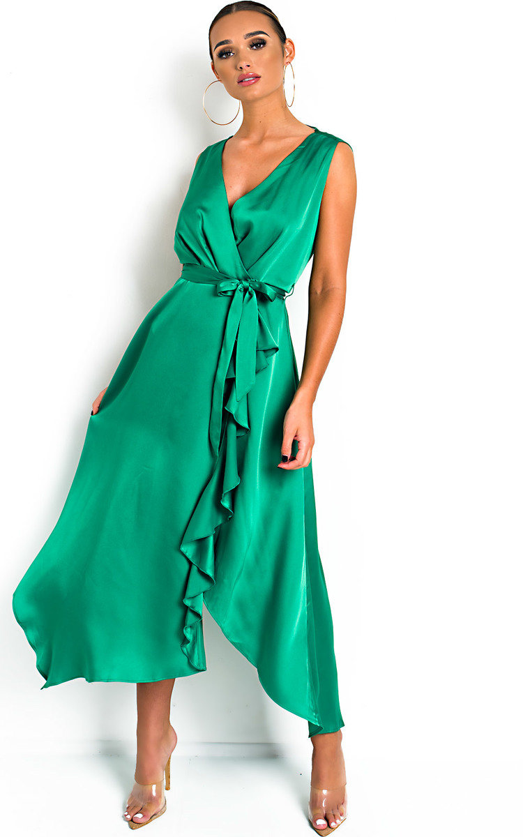 IKRUSH Womens Myra Striped Midi Dress