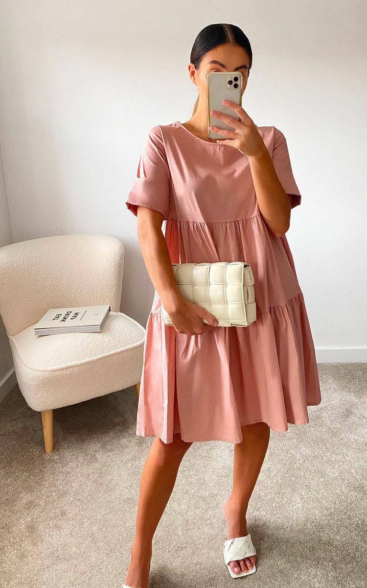 Marissa Layered Shift Dress in Rose
