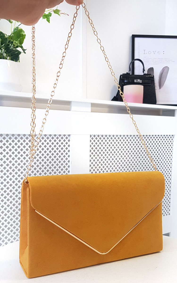 forefront of the times new season double coupon Marley Faux Suede Envelope Clutch Bag