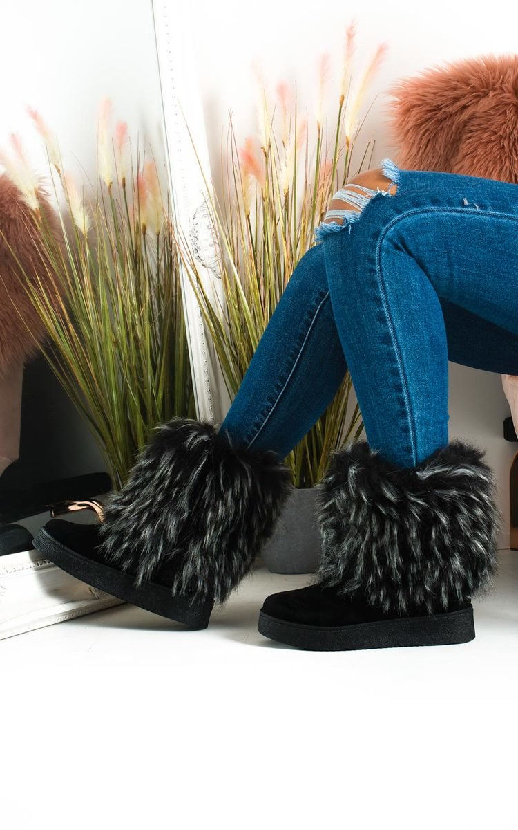 arrives find lowest price convenience goods Meela Fluffy Ankle Boots