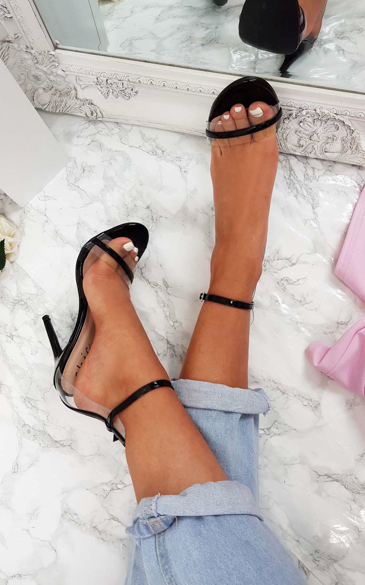 Minnie Perspex Barely There Heels in Black