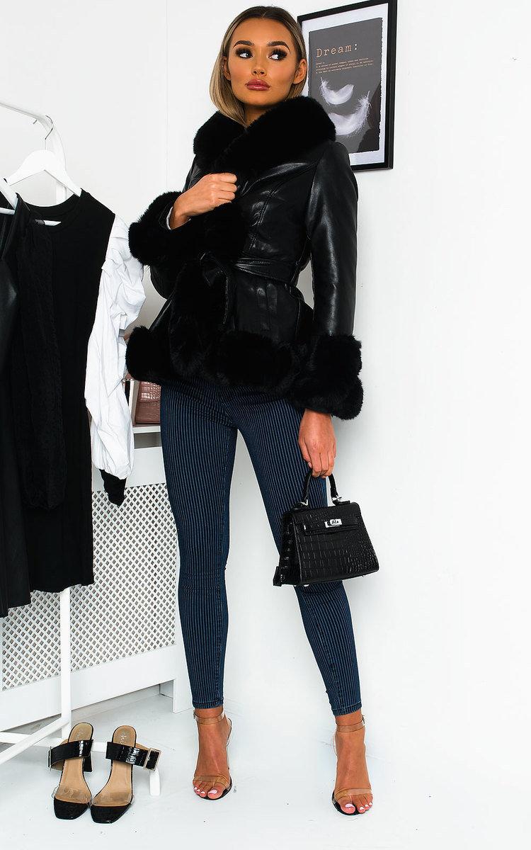 IKRUSH Womens Norvina Faux Leather Coat