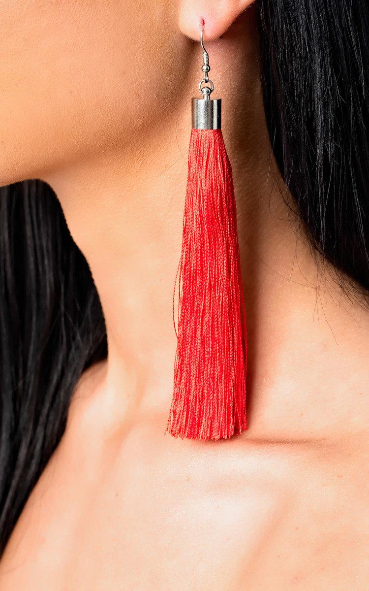 Tassel Earrings Red