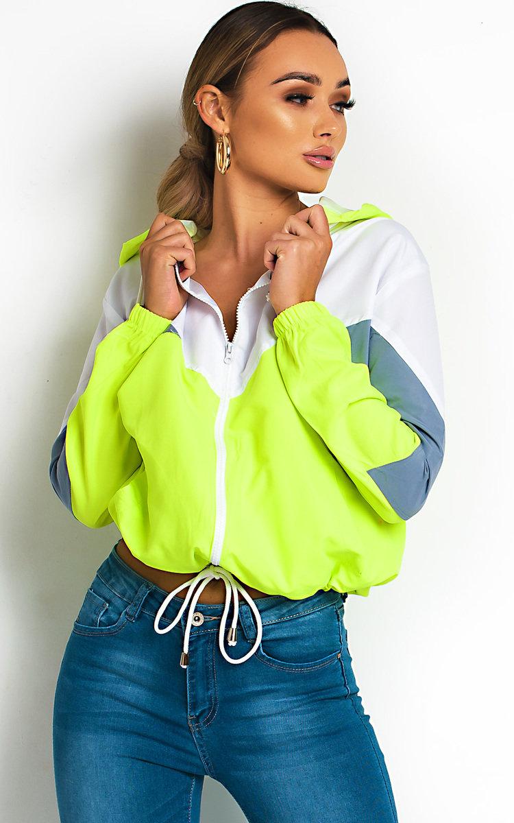 IKRUSH Womens Sav Neon Sports Shell Bomber Jacket