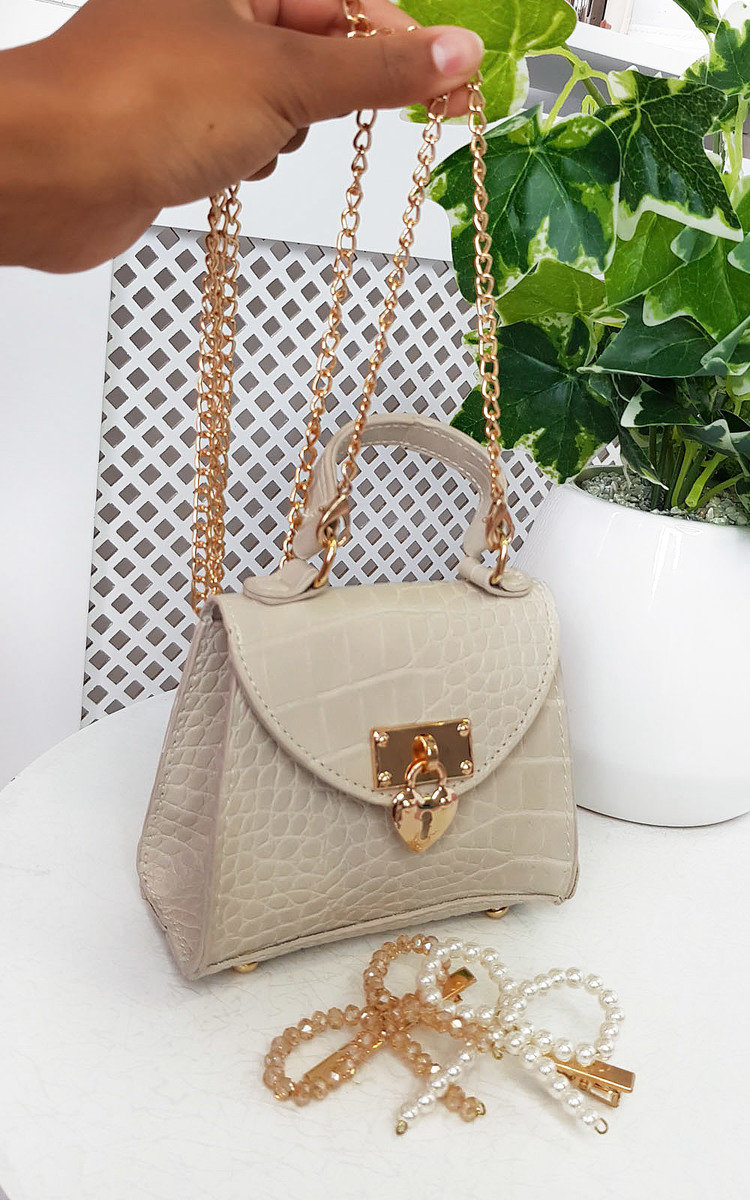IKRUSH Sofia Micro Mini Bag  NUDE UK 1SZE