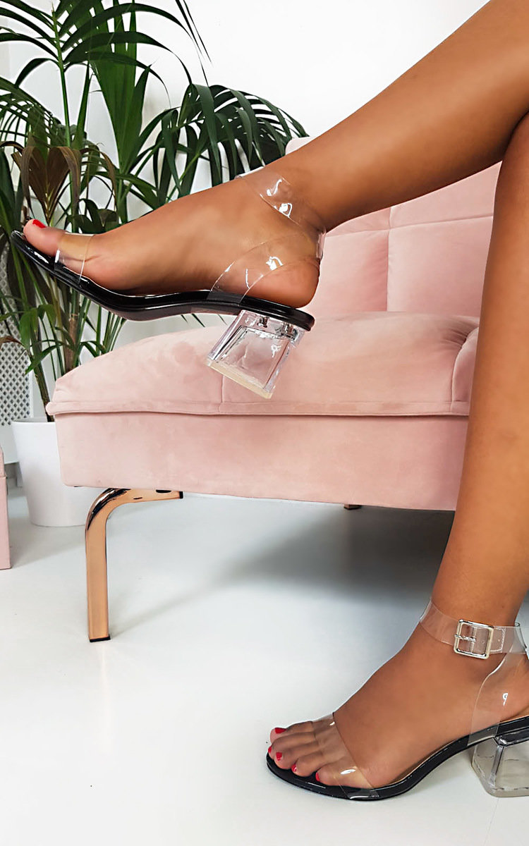 IKRUSH Womens Steffi Perspex Block Heels