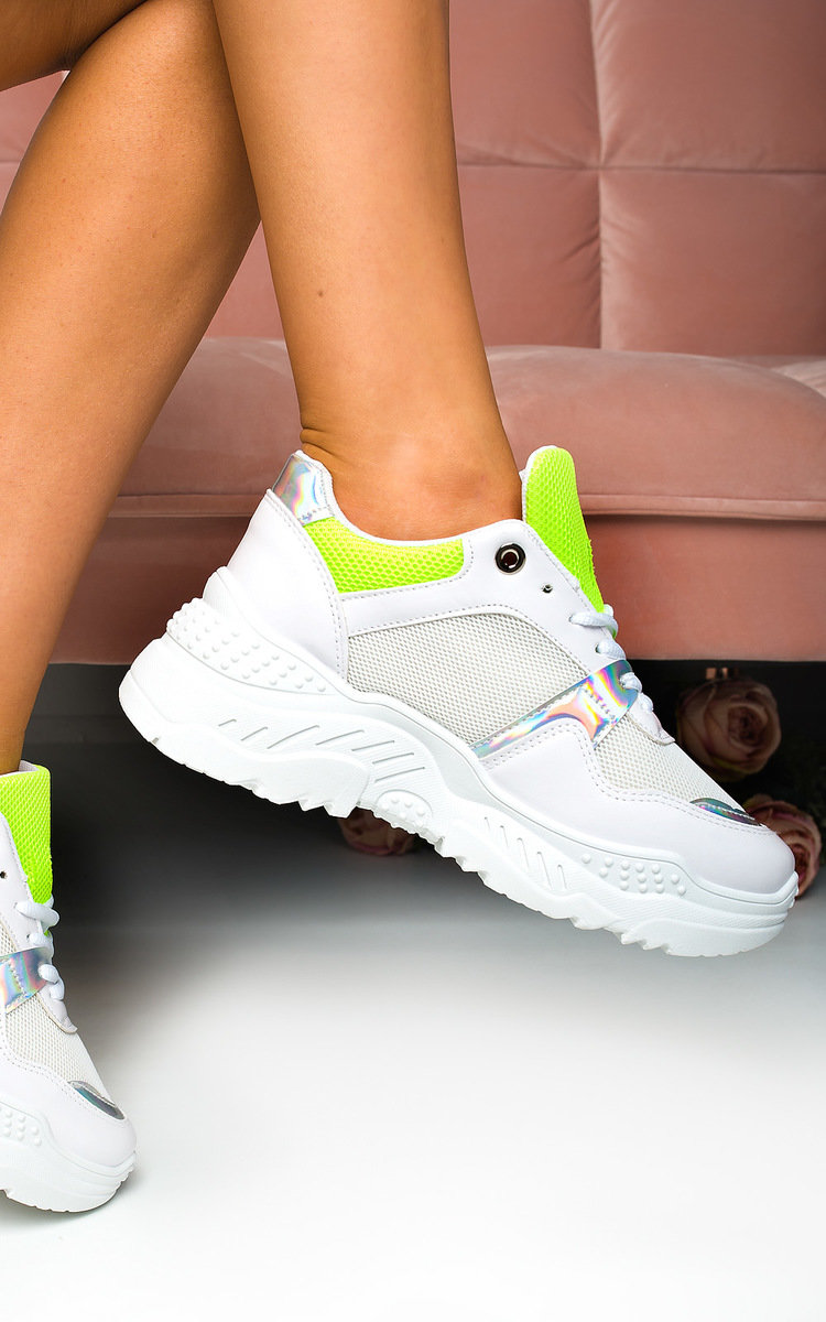 Steffie Chunky Mesh Trainers in Green