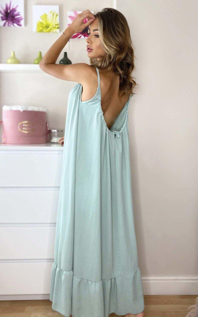 Tallulah Floaty Maxi Dress in Mint
