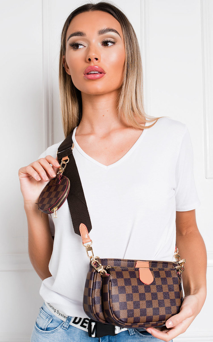 Tara Shoulder Handbag in Brown