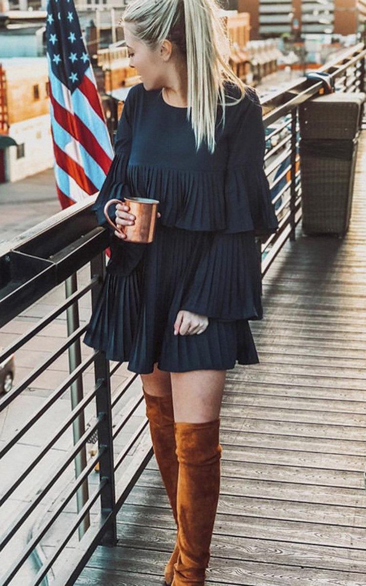 IKRUSH Womens Tessy Frill Shift Dress