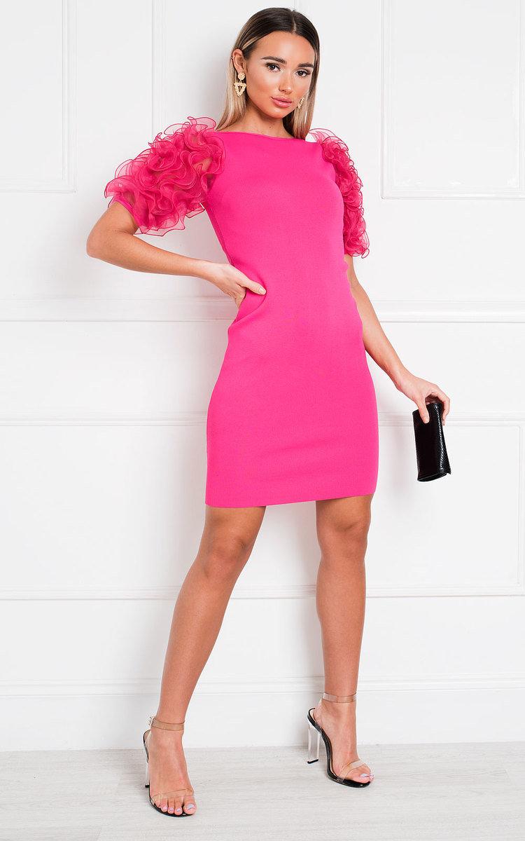 Willa Ruffle Sleeve Jumper Dress in Pink