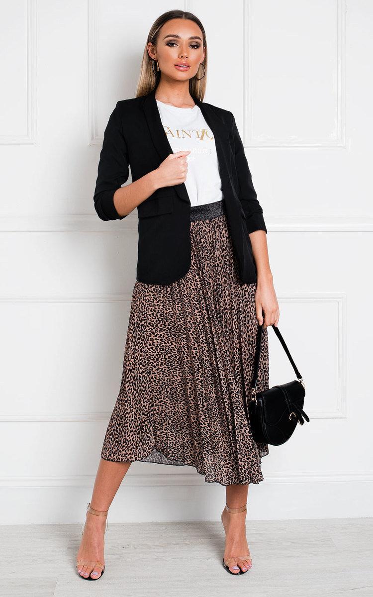 Zara Gathered Sleeve Blazer in Black